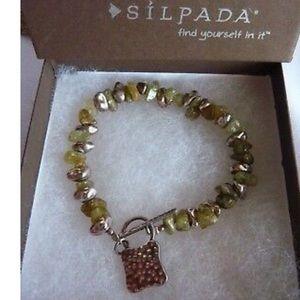 Rare Vintage Silpada Peridot and Sterling Bracelet